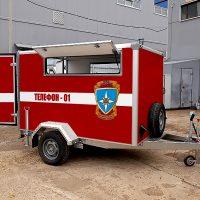 Прицеп-фургон для перевозки пожарных рукавов